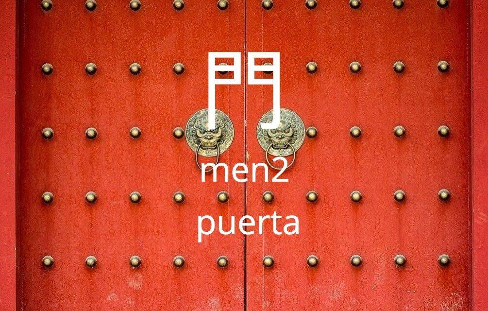 Puerta en chino