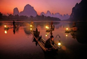 Pesca con Cormoranes en China