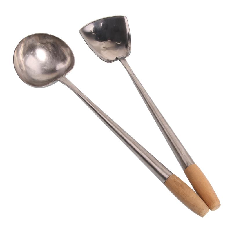 Espátula y cucharón para wok